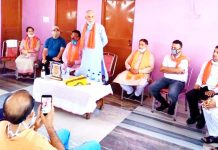 MP Rajya Sabha, Shamsher Singh Manhas addressing a meeting at Jammu on Sunday.