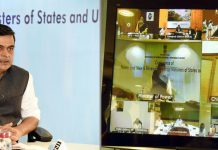 Minister of State for Power, New & Renewable Energy (Independent Charge) and Skill Development & Entrepreneurship, Raj Kumar Singh holding a Conference of Power and New & Renewable Energy Ministers of States & UTs, through Video Conferencing, in New Delhi on Friday.
