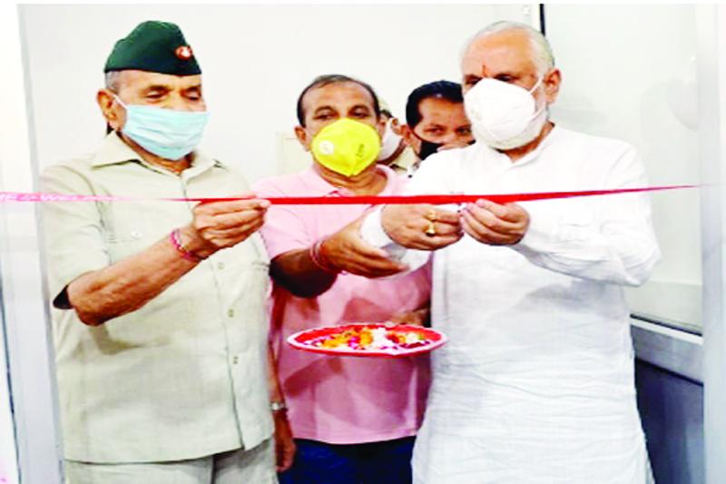 Member Parliament, Shamsher Singh Manhas inaugurating Gym at PNB Complex, Sarwal on Friday.