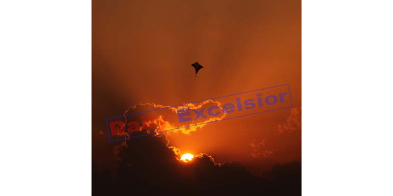 Panoramic view of Sunset in Jammu. Excelsior/Rakesh