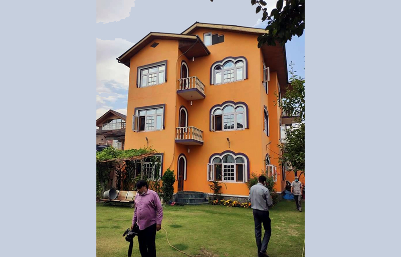 The house of SFC official which was raided by the ACB on Monday.