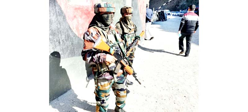 Women soldiers deployed by Army at Sadhna Top in Tangdhar area of LoC in North Kashmir.