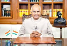 President Ram Nath Kovind addressing the nation on the eve of Independence Day in New Delhi on Friday.(UNI)