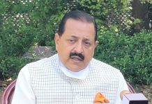 Union Minister Dr Jitendra Singh during interview to a national TV channel.