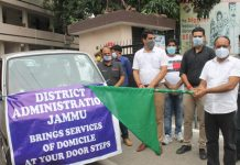 ACR Jammu flagging off vans for domicile at door step service.