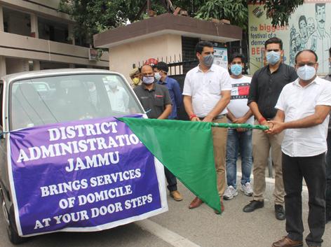 ACR Jammu flagging off vans for domicile at door step service.