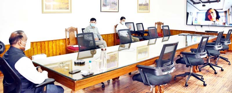 LG GC Murmu chairing a meeting on Tuesday.