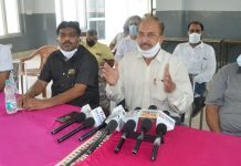 Senior members of JKRCEA addressing joint press conference in Jammu on Monday.