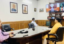 Union Minister Dr Jitendra Singh addressing a webinar of youth workers of Bharatiya Janata Yuva Morcha (BJYM), on Monday.