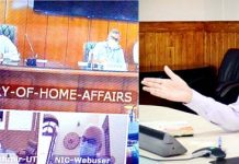 Union Home Secretary Ajay Kumar Bhalla interacting with CS J&K UT on Tuesday.