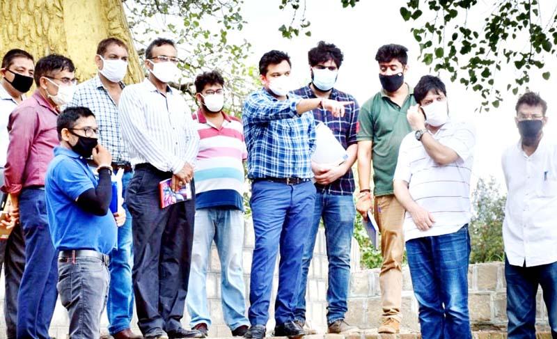 DC Udhampur Dr Piyush Singla inspecting Devika Project on Thursday.