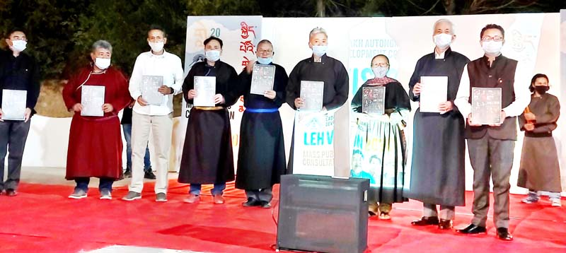 Dignitaries launching public consultation campaign for Vision Document 2030. -Excelsior/Morup Stanzin
