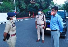 IGP Jammu Zone Mukesh Singh during review of security setup in Jammu.