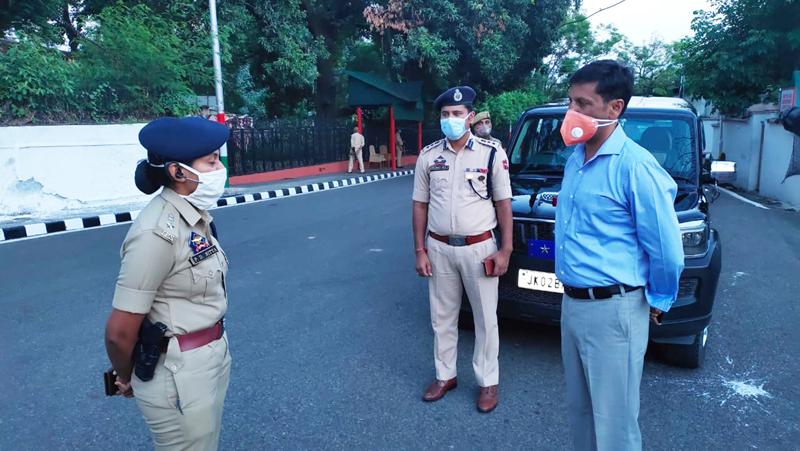 IGP Jammu Zone Mukesh Singh during review of security setup in Jammu.