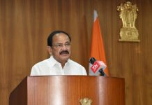 Vice President, M. Venkaiah Naidu addressing the Platinum Jubilee meet held, on the occasion of the 76th Foundation Day of Dr. B.R. Ambedkar College of Law, Andhra University, virtually from New Delhi on Tuesday.
