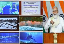 Prime Minister, Narendra Modi launches submarine cable connectivity to Andaman & Nicobar Islands (CANI), through video conferencing, in New Delhi on Monday.