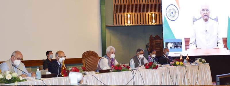 President Ram Nath Kovind addresses NEP conference on Sunday.
