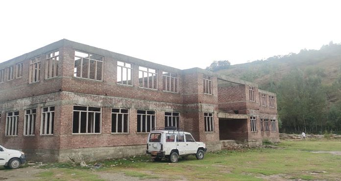 A view of incomplete Health Centre in Wagoora Kreeri area of North Kashmir's Baramulla district. —Excelsior/Aabid Nabi