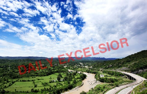 Panoramic view of Jammu-Srinagar National Highway. -Excelsior/Rakesh