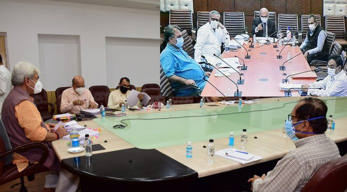 Lieutenant Governor, Manoj Sinha chairs Administrative Council meeting in Srinagar on Wednesday.