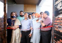 Dignitaries inaugurating Ganga Spa at Channi Himmat.