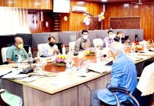 Lt. Governor Manoj Sinha launching National Generic Document Registration System in Srinagar on Friday.