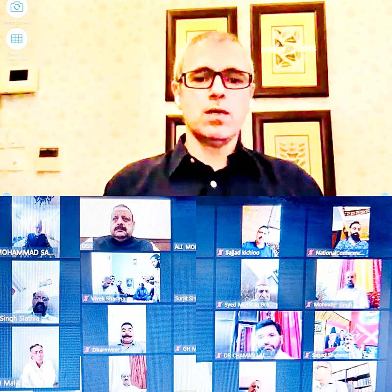 National Conference Vice President Omar Abdullah and other leaders paying online tributes to former MLA Rachpal Singh.