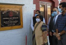 Chief Justice inaugurating Welfare Block at Central Jail Srinagar on Monday.