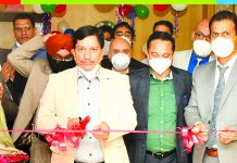 J&K Bank CMD RK Chhibber inaugurating new Corporate Office of JKB Financial Services at Jawahar Nagar, Srinagar.