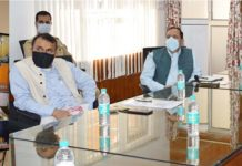 Lt Governor holding video conference with Doctors regarding COVID-19.