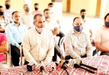 JKTJAC members during a press conference at Udhampur.