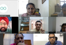 Professor (Dr) Neelu Rohmetra, Director IIM Sirmaur and other panelists during a webinar.