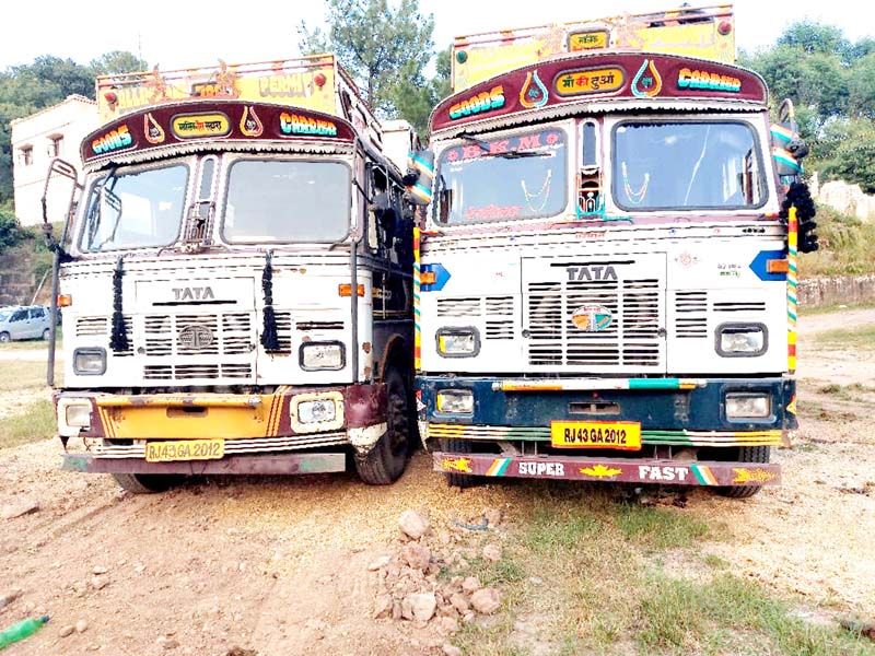 Two trucks with same number plates seized by Tikri Police.