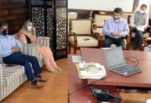 Principal Secretary, Power Rohit Kansal chairing a meeting in Srinagar on Wednesday.