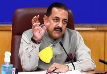 Union Minister Dr Jitendra Singh briefing about the ISRO's Lunar Mission on Sunday.