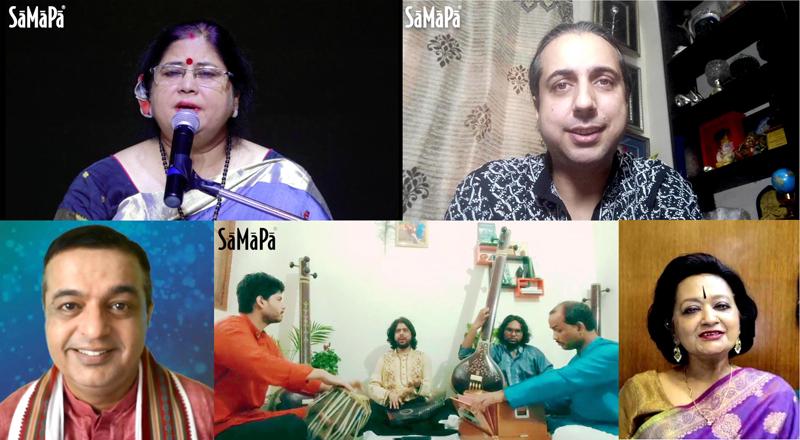 Artists enthralling SaMaPa Digital Baithak Series with Odissi & Hindustani Classical vocal recitals.