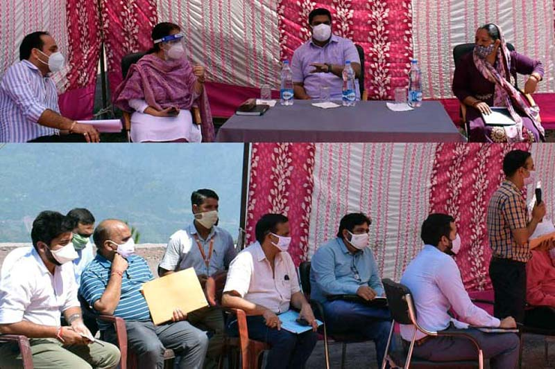 Secretary Planning M Raju during Jan Abhiyan at Reasi.