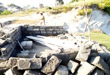 Illegal structure demolished by Forest Department.
