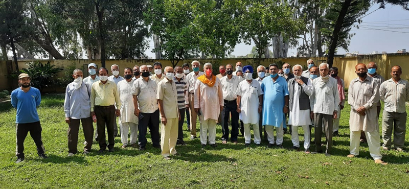 JKSAC representatives during a meeting at Rajal in Nowshera on Wednesday.
