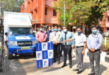 DC Kathua, O.P Bhagat flagging off HDFC Bank Quick Loan Shoppee van.