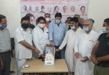 JKPCC leaders celebrating 88th birthday of former PM Dr Manmohan Singh at Jammu.