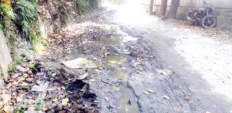Deplorable condition of road connecting Sub District Headquarters Gandoh in district Doda. -Excelsior/Rafi Choudhary