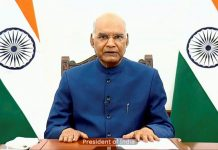 President Ram Nath Kovind addressing the 'Visitors Conference' on National Education Policy (NEP) 2020, in New Delhi on Saturday.
