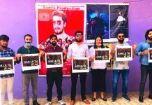 Actor Sanyam Pandoh and Sam Production actors' team releasing the poster of song 'Kar Le Tu Jo Bhi'.