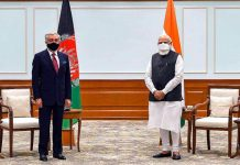 Prime Minister Narendra Modi with Head of Afghan peace council Abdullah Abdullah during the latter's five day visit to India as part of the efforts to build a regional consensus and support for the Afghan peace process.
