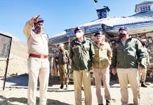 IGP Jammu Zone Mukesh Singh reviewing security arrangements in Poonch on Tuesday.