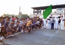 SSP Samba, Rajesh Sharma flagging off 'Run for Unity' at GDC Samba on Sunday.