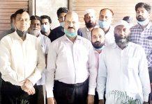 Dignitaries during inauguration of Nidaan Diagnostics Centre at Bathindi.