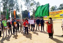 DDC, Indu Kanwal Chib flagging off trekking expedition at Reasi on Tuesday.