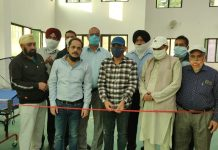 Additional Deputy Commissioner, Basharat Hussain inaugurating Table Tennis tournament at Sports Indoor Hall Poonch.